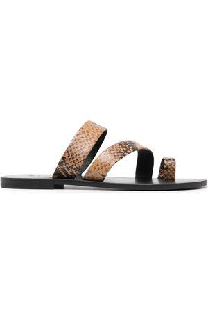 SENSO Clyde III snakeskin-effect sandals