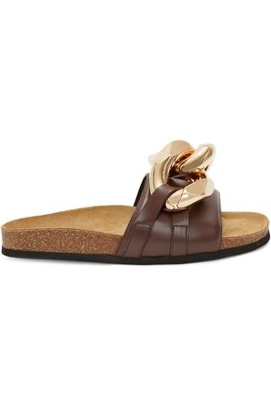 J.W.Anderson Women Sandals - Chain-link trim slides