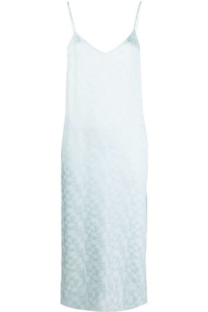 Palm Angels Monogram-print slip dress
