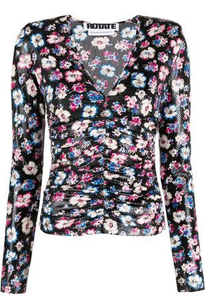 ROTATE Floral-print ruched top
