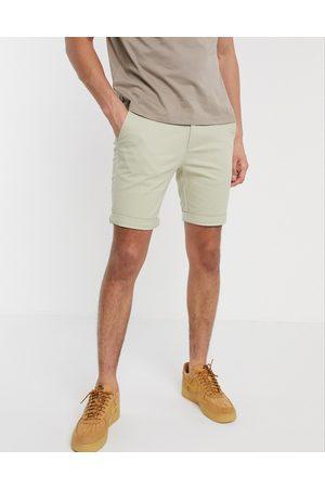 Topman Chino skinny shorts in stone