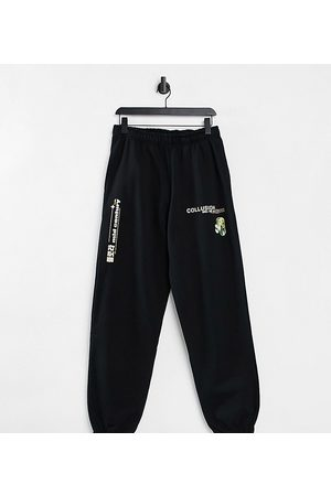 COLLUSION Unisex oversized joggers with print in co-ord