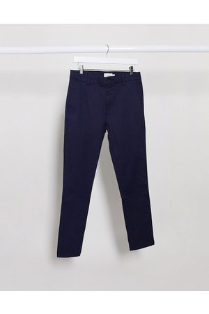 Topman Stretch skinny chinos in navy