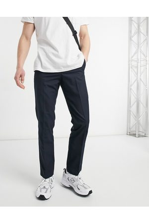 French Connection Slim fit formal trousers-Navy