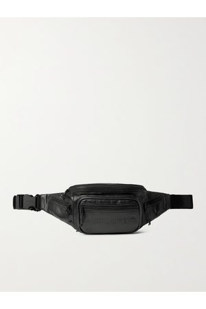 Saint Laurent Men Belts - Logo-Embossed Leather Belt Bag