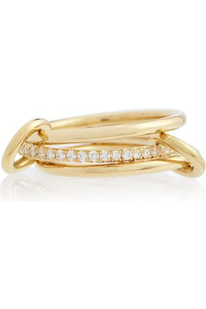 SPINELLI KILCOLLIN Sonny 18kt yellow linked rings with diamonds