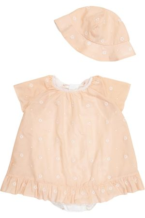 Chloé Baby cotton and silk hat and bodysuit set