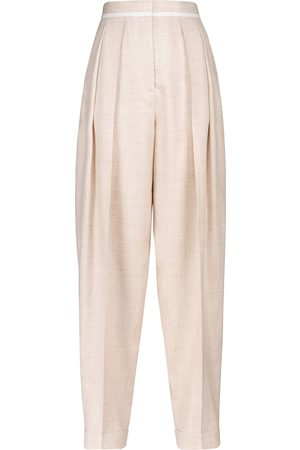 Stella McCartney Ariana pleated wide-leg pants
