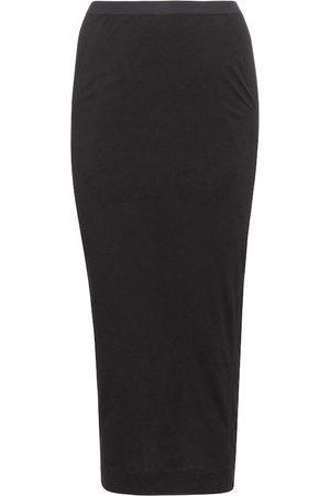 Rick Owens Women Midi Skirts - Lilies jersey midi skirt