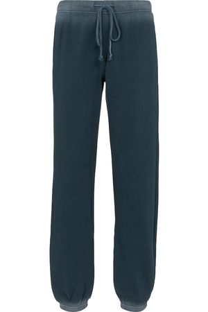 Velvet Women Trousers - Viola ombré cotton sweatpants