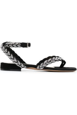 ALEXANDRE VAUTHIER Ines braided-effect leather sandals