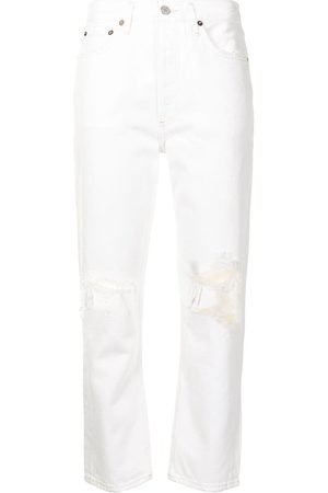 AGOLDE Riley cropped straight-leg jeans