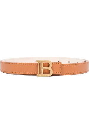 Balmain Logo-plaque buckle-fastening belt