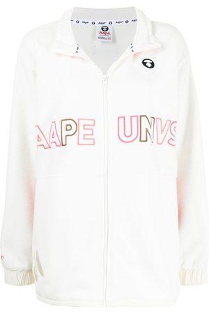 AAPE BY A BATHING APE Logo embroidered zipped sweatshirt