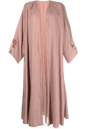 SHATHA ESSA Pomegranate-embroidered kaftan