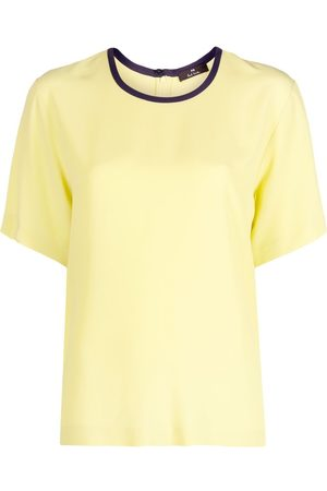 Paul Smith Contrast trim crepe T-shirt