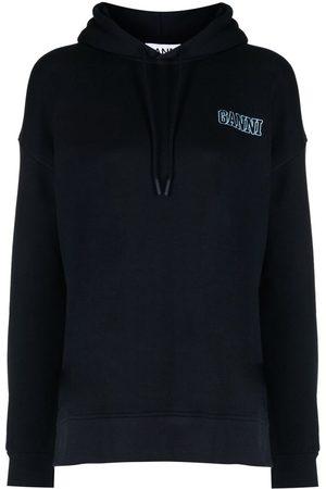 Ganni Logo-embroidered hoodie