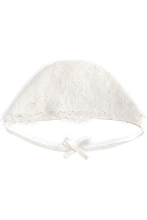 Dolce & Gabbana Baby Hats - Bow detail lace hat