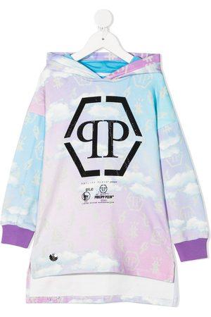 Philipp Plein Clouds-print sweatshirt dress