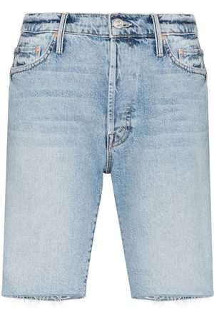 Mother The Trickster Bermuda Denim Shorts