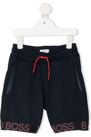 HUGO BOSS Logo-tape track shorts