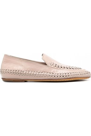 Officine creative Bessie woven leather loafers