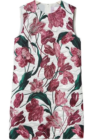 Carolina Herrera Floral-print jacquard shift dress