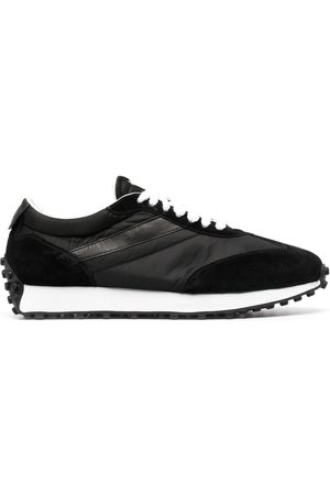 Doucal's Leather-trim low-top sneakers