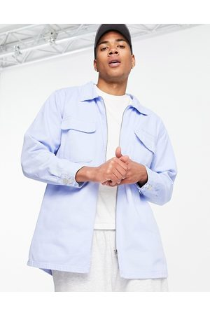 Mennace Aftermath double pocket denim shirt in