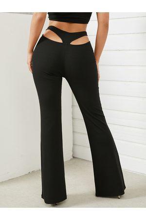 YOINS Women Wide Leg Pants - Cut out High Waist Flared Leg Pants
