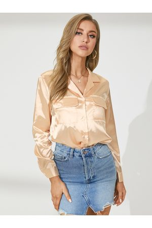 YOINS Celmia Pockets Deisgn Classic Collar Long Sleeves Blouse