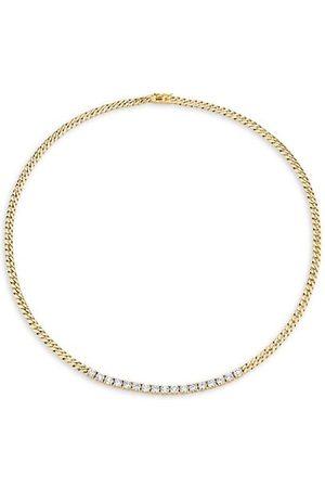Anita 18K & Diamond Plain Cuban-Link Choker Necklace