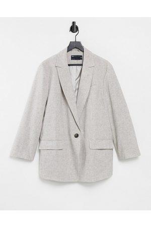ASOS Slubby linen jacket in