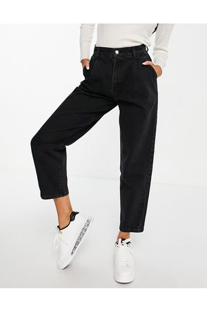 ASOS Organic denim pleat front peg trouser in washed