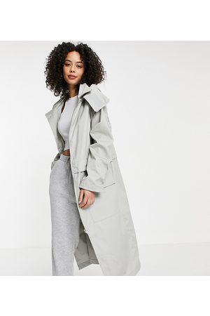 ASOS ASOS DESIGN Tall double layer parka coat in