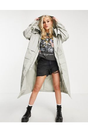 ASOS Double layer parka coat in
