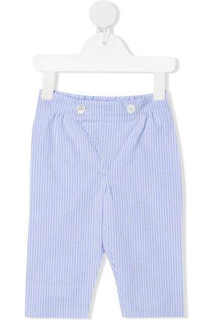 SIOLA Stripe-pattern cotton trousers