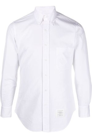 Thom Browne Men Shirts - Button-down RWB detail shirt