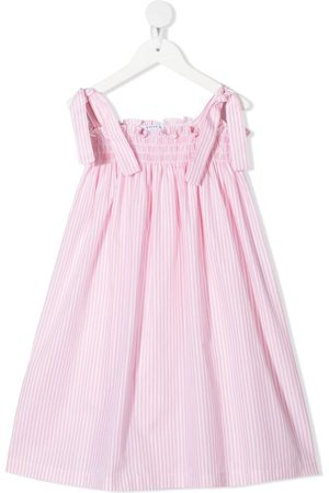 SIOLA Stripe-print smocked dress