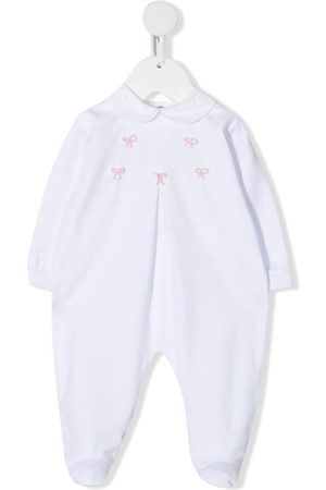 SIOLA Box-pleat embroidered babygrow