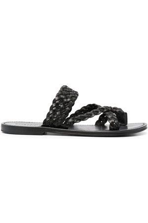 Saint Laurent Men Sandals - Rope-detail slip-on sandals