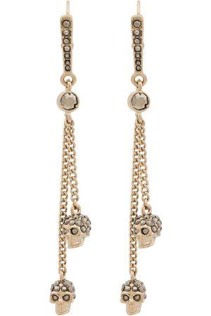 Alexander McQueen Women Earrings - Metallic chain skull earrings