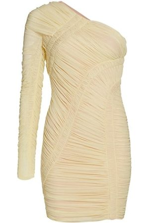 Hervé Léger Women Casual Dresses - Draped Jersey One-Shoulder Mini Dress