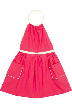 Caramel Pelican cotton pinafore dress