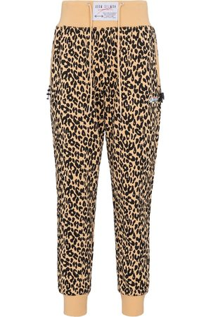 Adam Selman Sport Women Trousers - High-rise leopard-print sweatpants