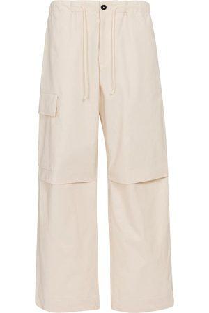 Jil Sander Women Wide Leg Pants - High-rise wide-leg cotton pants