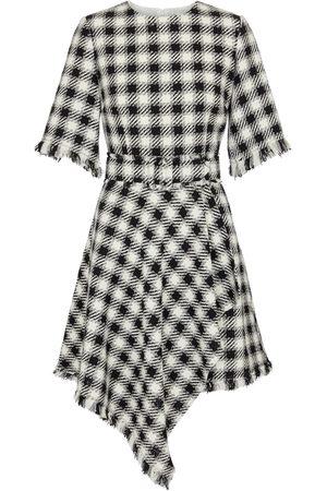 Oscar de la Renta Women Asymmetrical Dresses - Checked asymmetric minidress