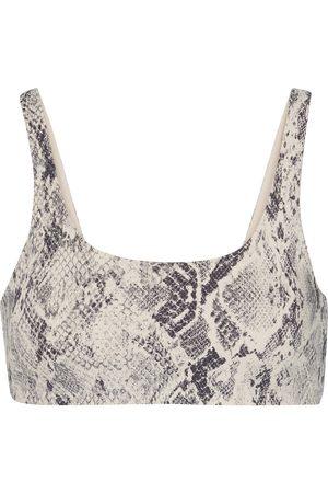 alo Vapor snake-effect sports bra