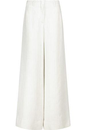 Loro Piana Harve high-rise wide-leg linen pants