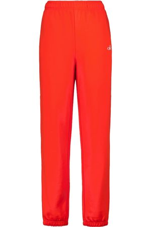 alo Women Trousers - Accolade cotton-blend sweatpants